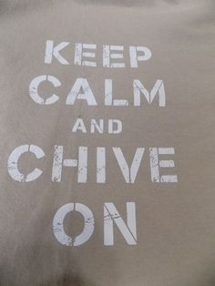Keep Calm and Chive On CHIVE TEES T Shirt Size Large Brown #ChiveTees #ShortSleeve