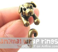 #animalwrapringsArtfire on Artfire                  #ring                     #Realistic #Puppy #Animal #Wrap #Around #Ring #Brass #Sizes                   Realistic Puppy Dog Animal Pet Wrap Around Ring in Brass Sizes 4 to 9                                   http://www.seapai.com/product.aspx?PID=1122305