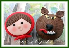 Red Riding Hood and the Big Bad Wolf Cupcakes