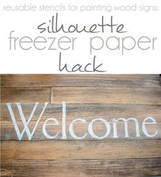 How to make reusable stencils for painted wood signs