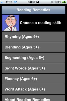 Reading Remedies is an inexpensive and convenient reading assessment app that acknowledges students' strengths and weaknesses in different areas of literacy such as segmenting, fluency and word attack. Reading Strategies, Reading Skills, Teaching Reading, Dyslexia Strategies, Learning, Kids Reading, Reading Activities, Reading Nook, Teaching Tips