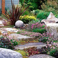 Drought-Tolerant Slope Garden Plan. From bhg.com.