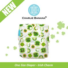 Introducing #Charliebanana latest print IRISH CHARM! It was time to think of all those little babies of Irish descent and St Patrick's Day being at the corner, we could not find a better time for its release. Order now if you want Irish Charm to be ready for you on St Patrick's day! #clothdiaper