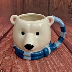 Polor Bear Mug Cup Barrel Tea Coffee Hot Chocolate Drinking Dish Washer Safe New Dish Washer, Mug Cup, Polar Bear, Hot Chocolate, Barrel, Drinking, Cups, Dishes, Tea