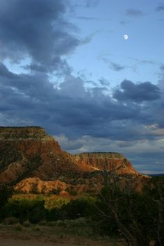 New Mexico - a scene from Ghost Ranch - a place I hope to visit soon.