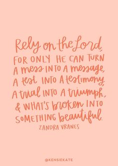 always RELY on the lord #thereasonfortheseason #faithinspo