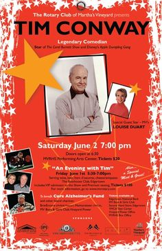 The legendary Tim Conway is performing with impressionist Lousie DuArt on Martha's VIneyard!