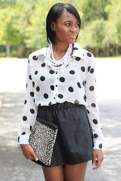 variations of black and white - with a longer skirt/pants