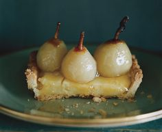 Seckel Pear Tart with Poire William Cream Recipe  | Epicurious.com