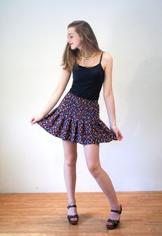 Skirt Chaser 90s Mini Skirt Mod Skater Skirt by MorningGlorious