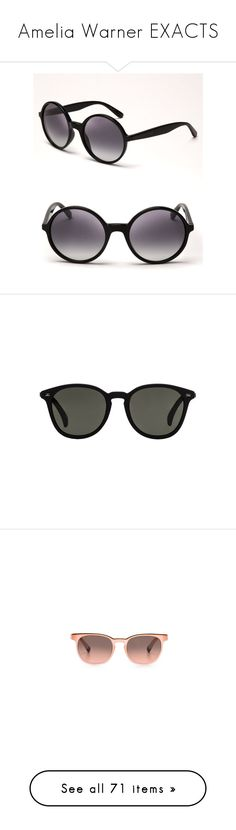 """Amelia Warner EXACTS"" by clo-egral ❤ liked on Polyvore featuring accessories, eyewear, sunglasses, glasses, round frame sunglasses, over sized sunglasses, oversized glasses, marc by marc jacobs sunglasses, oversized round sunglasses and le specs sunglasses"