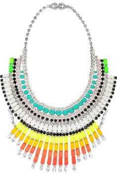 Tom Binns multicolored statement necklace.  Double rainbow statement necklace. So intense,  what does it mean?
