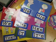 Miss Thrifty SLP: Pronouns, free b&w printables