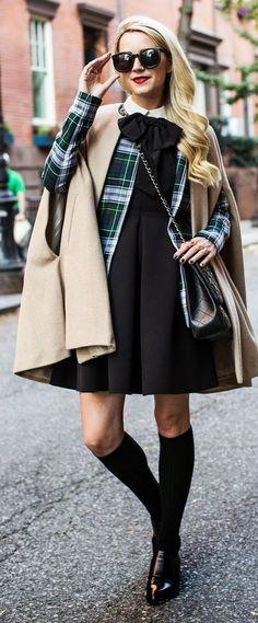 Beige Woolen Cape Coat by Atlantic - Pacific