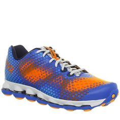 For the lad who likes to look a bit flavorful when he's running track.  http://coolneonshoes.com/product/reebok-mens-skycell-dmx-run-running-shoe/  #shoe #trainer #blue #orange