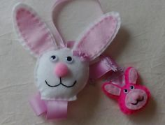 Bunny Hair Clip Holder by DaisyFelts on Etsy