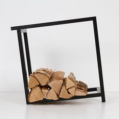 """""""Woodi"""" wood rack, created by Hanna Särökaari is just one of the many pieces exhibited by Adorno in Join the Adorno Design collaboration and explore international collectible design pieces, carefully handpicked by our local design curators. Decorative Objects, Decorative Accessories, Wood Rack, Firewood Storage, Minimalist Furniture, Home Office Decor, My Design, Cool Designs, Furniture Design"""
