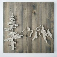 Mountain Range and Tree String Art. Mountain by TheWoollyBugger
