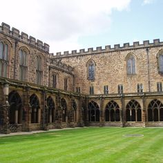 The snowy quadrangle where Harry first sets Hedwig flying is actually part of Durham Cathedral. This is also where Ron regurgitates slugs in...