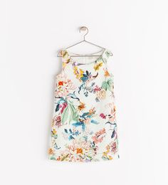 PRINTED DRESS WITH POCKETS - Dresses - Girl (3 - 14 years) - KIDS   ZARA United States
