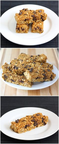Pumpkin Chocolate Chip Granola Bars on twopeasandtheirpod.com Love these homemade granola bars! Easy to make at home! #pumpkin