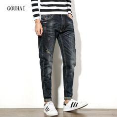 (31.94$)  Watch more here  - European American Style Men Jeans Luxury Men's Casual Denim Trousers Cotton 2016 Fashion Brand Slim Jeans For Men Plus Size