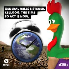 One food giant, General Mills, committed to cut its emissions. But Kellogg is staying silent while farmers continue to go hungry. #BehindtheBrands www.oxfam.org/behindthebrands
