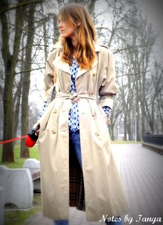 Vintage Burberry(s) trench coat styling idea