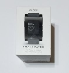 awesome Black Pebble Classic Smart watch for iPhone & Android Devices - USED & WORKING   Check more at http://harmonisproduction.com/black-pebble-classic-smart-watch-for-iphone-android-devices-used-working/