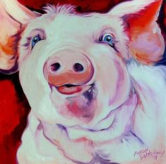 """Molly the Pink Pig"" par Marcia Baldwin"