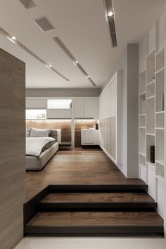Love these floors...looks like wide plank walnut with a matte finish