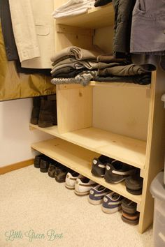 How to Make DIY Closet Organizers and Clean Out Your Walk-in Closet | Little Green Bow