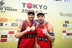 Norwegian Vikings Anders Mol and Christian Sorum continued their gold run and claimed their fifth gold medal of the season after winning in Itapema, Jinjiang, Ostrava and Gstaad. Norwegian Vikings, Beach Volleyball, A Team, Norway, Tokyo, Christian, Seasons, Baseball Cards, Running