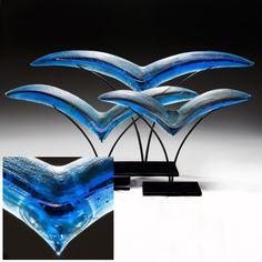 Birds, Glass Sculpture, Susan Gott