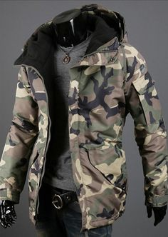 Men Military Camo Jacket 2 Colors