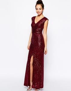 ASOS | New Look Sequin Front Maxi Dress | $104.21