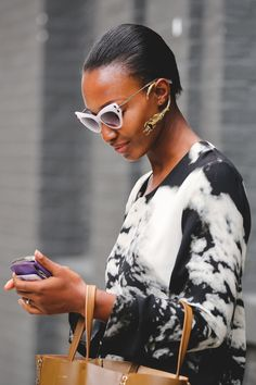 The Most Authentically Inspiring Street Style From New York #refinery29  http://www.refinery29.com/2015/09/93788/ny-fashion-week-spring-2016-street-style-pictures#slide-19  A wrap-around ear-cuff bringing the drama....