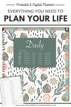 Get your life planned out and organized with this All-in-One planner. Different styles to choose from. Calendar Organization, Life Organization, Organizing Life, Daily Planner Printable, Planner Pages, Self Development, Personal Development, All About Vision, Day Planners