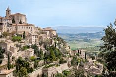 The spectacular view of Gordes, France