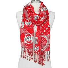Ohio State Mixed Print Scarf Sports Team Accessories…