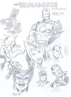"M.REDONDO- Comics: * ""Los Vengadores"" a mi estilo"