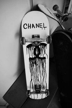 Fake Chanel skateboard #logo #fashion #parody - Carefully selected by GORGONIA www.gorgonia.it