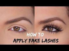 How to apply false eyelashes (if you haven't got any of your own) - YouTube