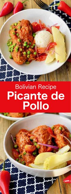 Picante de pollo is one of the most traditional Bolivian dishes. The main charac… Picante de pollo is one of the most traditional Bolivian dishes. The main characteristic of this dish of chicken in sauce is its intense spiciness. Chicken Picante Recipe, Spicy Chicken Recipes, Latin American Food, Latin Food, Bolivian Food, Bolivian Recipes, Ethnic Recipes, Entree Recipes, Cooking Recipes