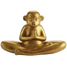 Pier 1 Gold Yoga Monkey knows the secret to relaxation