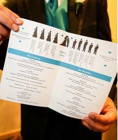 ceremony/reception programs