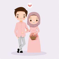 Cute cartoon couple bride and groom muslim Bride And Groom Cartoon, Wedding Couple Cartoon, Cute Couple Cartoon, Cute Couple Art, Couples Musulmans, Cute Muslim Couples, Drawing Cartoon Characters, Cartoon Drawings, Cartoon Cartoon