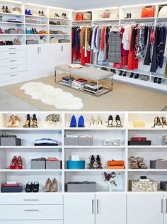 See goop's new fabulous TCS Closet and all the hangers, boxes and organizers that went into making this fashion closet absolutely perfect. On Container Stores now.