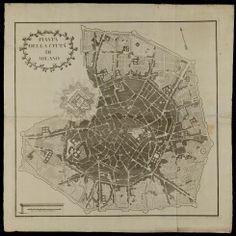 Milano 1880 | Arcangelo Lavelli (alta risoluzione) Milano, Vintage World Maps, Italy, Urban, History, Italia, Historia