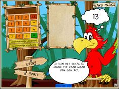 De papegaai Waku zegt een getal. Kinderen moeten een som bedenken, waarbij de uitkomst het getal van waku is. Geschikt vanaf groep 3.